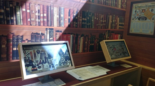 Touchscreens in the Regimental Museum section at Norwich Castle