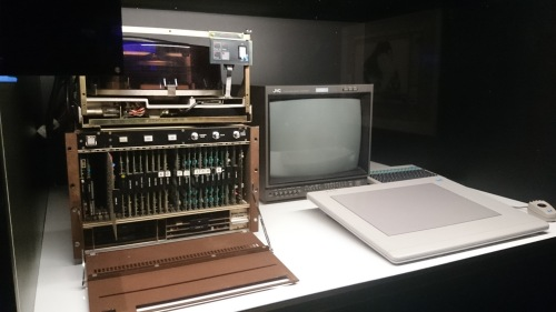 Quantel Paintbox, 1981, predecessor of the Wacom Tablet, revolutionised the way graphics were produced