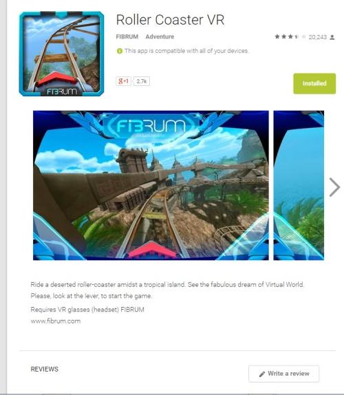 Fibrum Rollercoaster App Screenshot